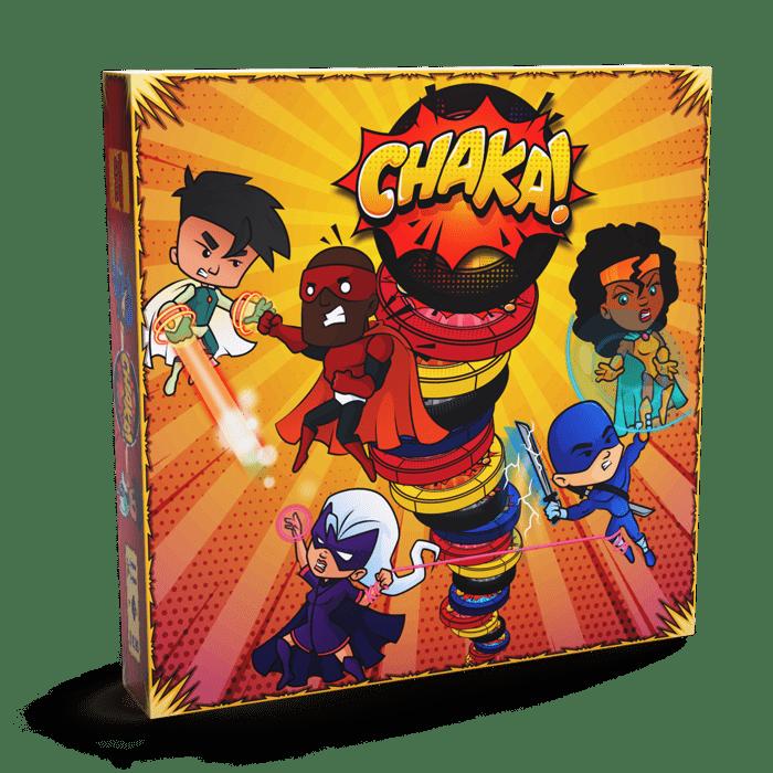 CHAKA! Boardgame Twinbrogames Box kickstarter